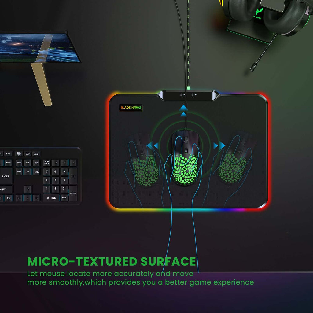 Blade Hawks RGB Gaming Mouse Mat Pad