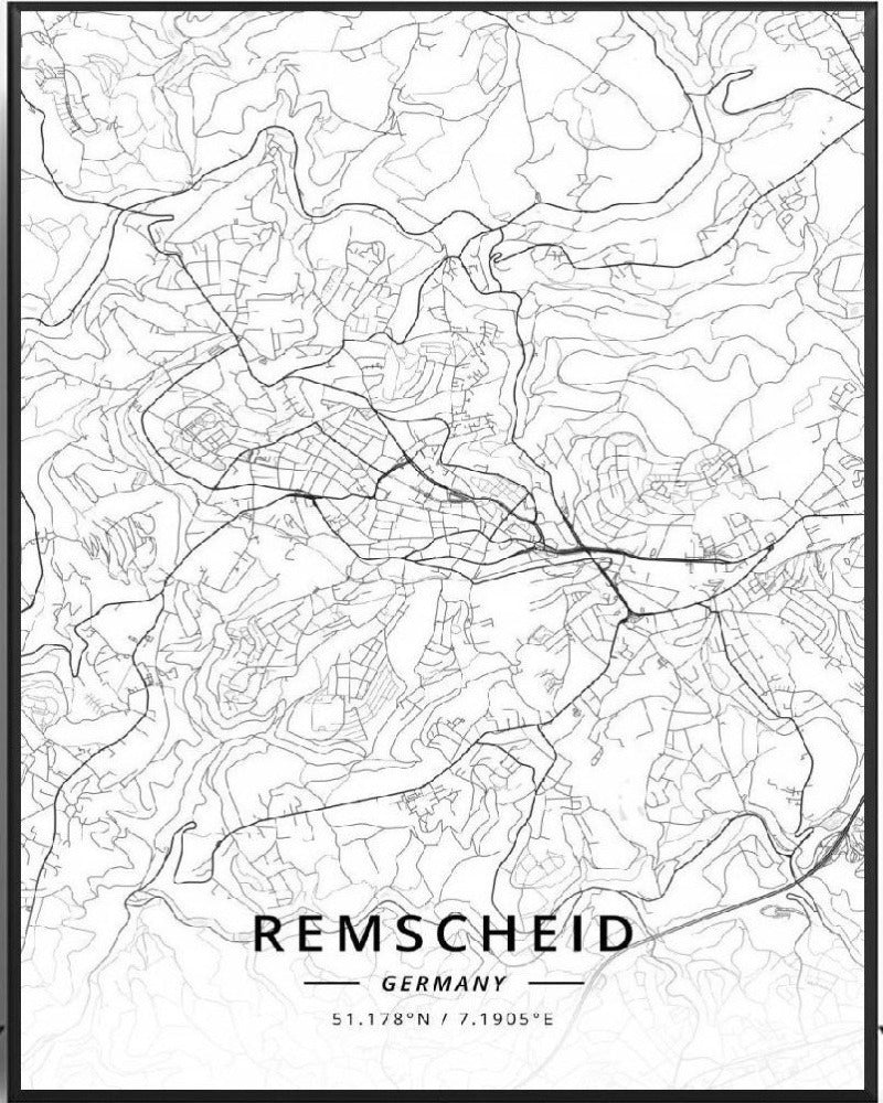 Carte de Remscheid