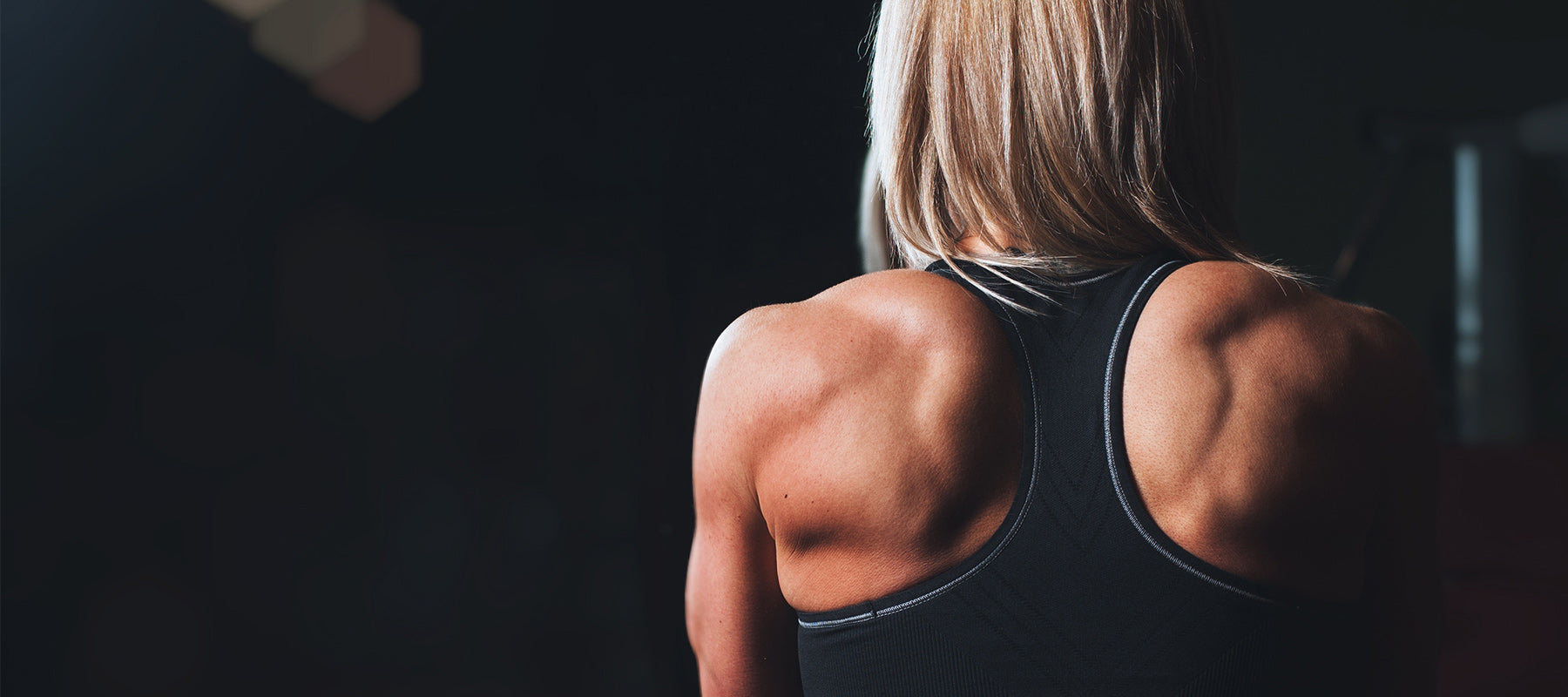 Woman Back Weight Lifting Muscles