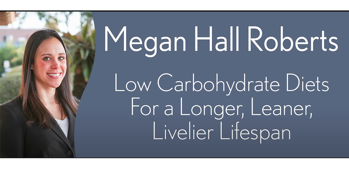 Low carb diets for a longer, leaner, livelier lifespan. VIDEO.