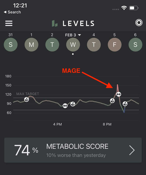 MAGE in Continuous Glucose Monitoring Levels App