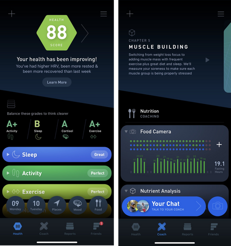 Gyroscope Health Tracking App Integrated