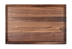 "Large Walnut Cutting Board With Juice Groove (11"" x 17"")"