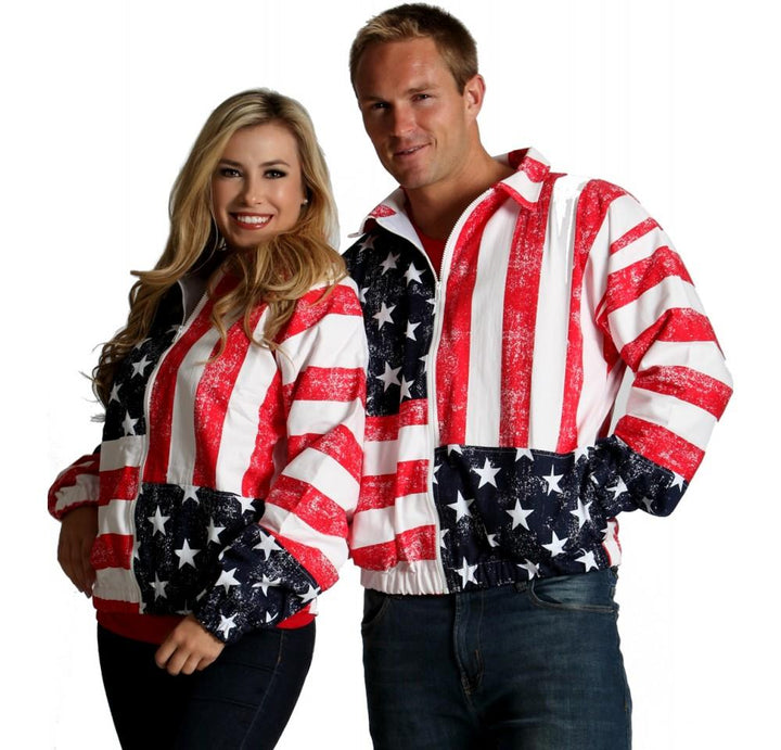American flag zip-up jacket