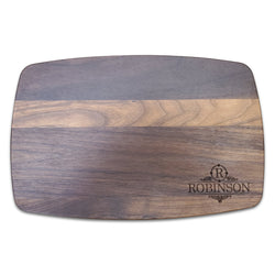 "Personalized Arched Walnut Cutting Board (10.5"" x 16"")"