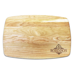 "Personalized Arched Cherry Cutting Board (10.5"" x 16"")"