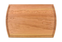 "Cherry Cutting Board With Arched Sides And Juice Groove (10.5"" x 16"")"