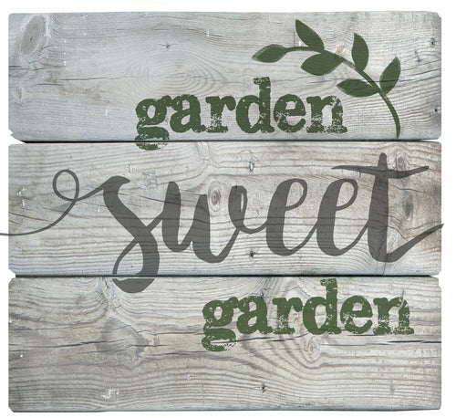 In the Garden: Pallet Art-Garden Sweet Garden