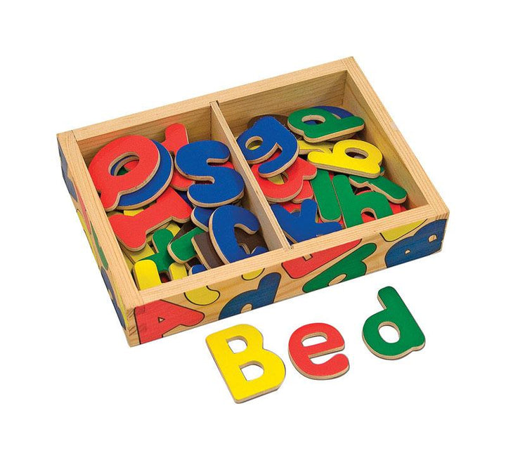 Melissa & Doug  Wooden Alphabet Set  Wood  Multi-Colored  52 pc.