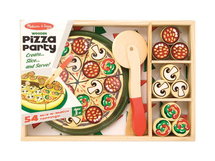 Melissa & Doug  Play Food  Wood  Assorted  62 pc.
