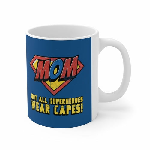 Mom Super Hero Theme Mug 11oz