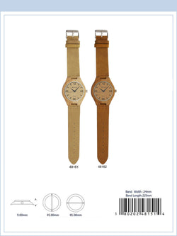 MC4816 - Bamboo Watch with Suede Band