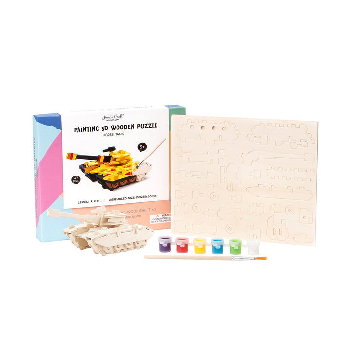 HC255 3D Wooden Puzzle Paint Kit: Tank