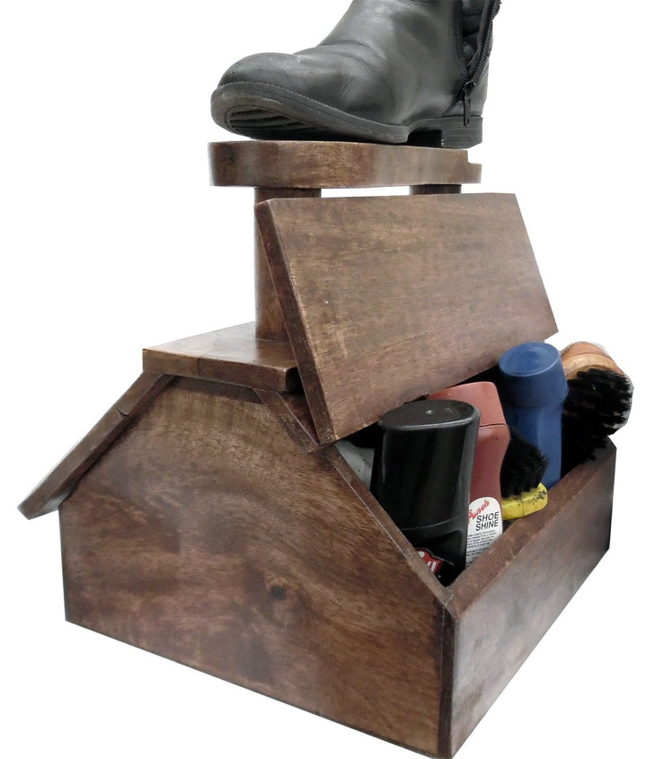 Shoe Shine Freestanding Cabinet