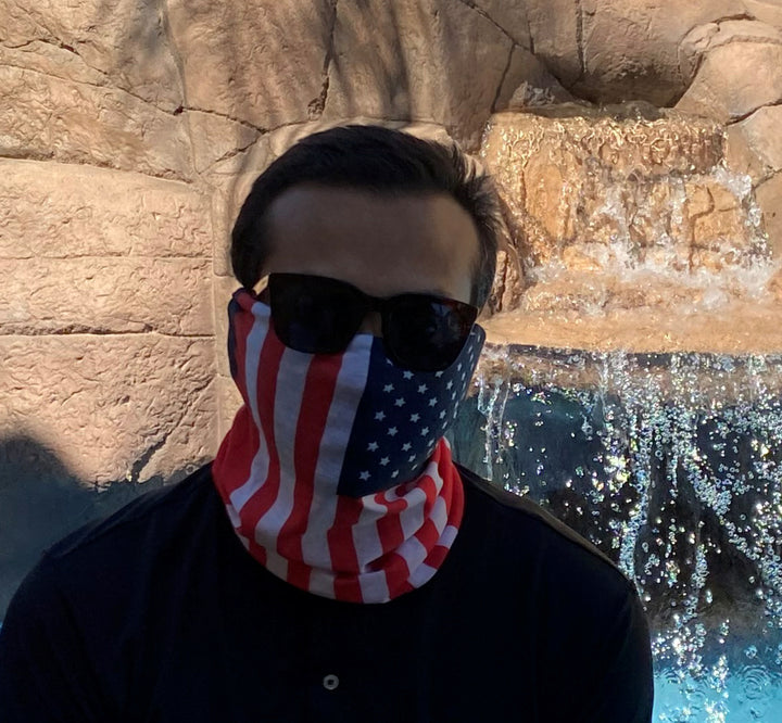 USA AMERICAN FLAG Face Mask Bandanna