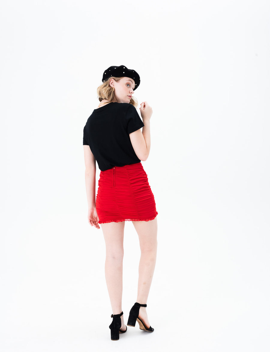 Yiren Shirred Skirt
