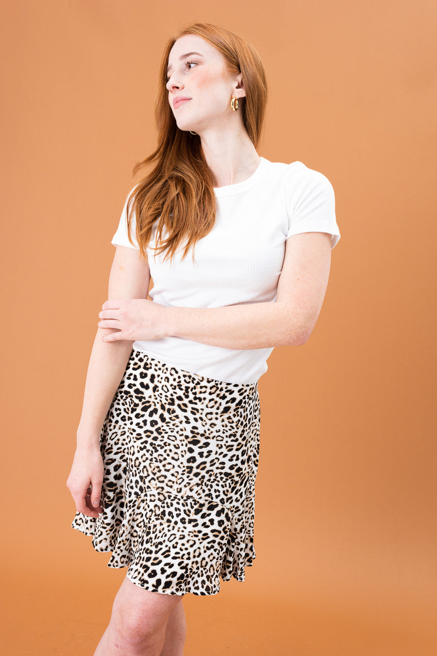 Ness Animal Print Skirt