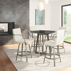 Edward Swivel W Arms Stool