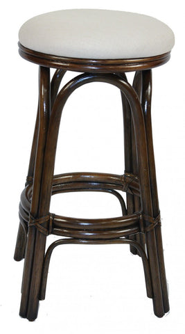Vanessa Backless Rattan Bar stool