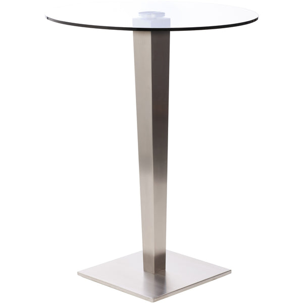 Fanci Brushed Stainless Pub Table Barstools To Go High