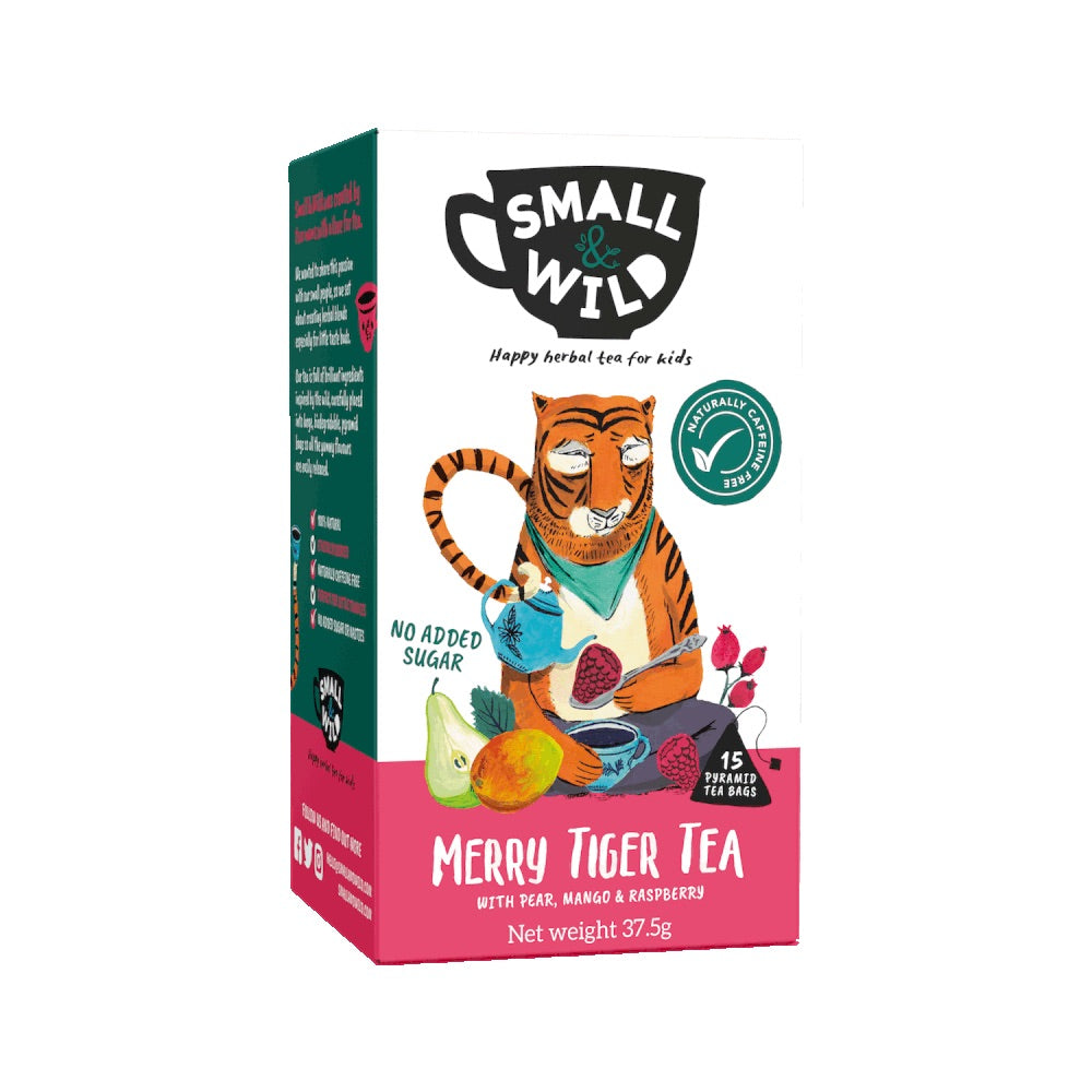 Merry Tiger Fruit Tea for Kids with Pear, Mango & Raspberry