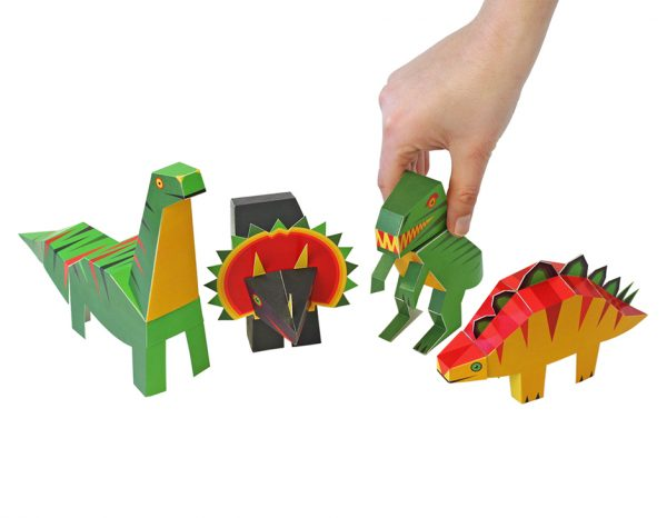 Dinosaurs - Paper Art Kit, by Pukaca | Age 6+