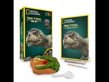 Load and play video in Gallery viewer, Dinosaur Dig KIT | NGDINO by National Geographic | Age 8+