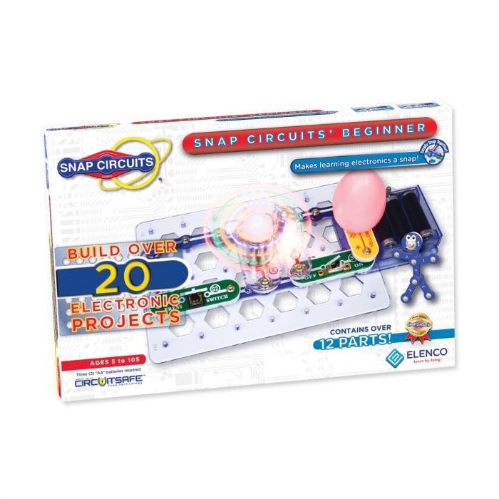 Snap Circuits® Beginner - Enjoy 20 Projects | SCB-20 by Elenco | Age 5+