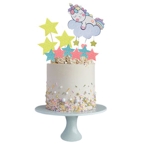 Unicorn with Stars Print & Cut Template Set