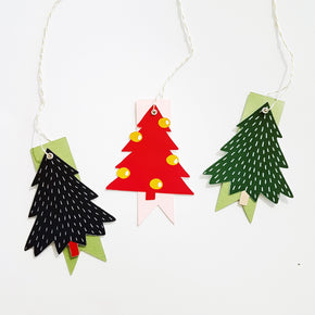 Christmas Tree Gift Tag Print & Cut Templates