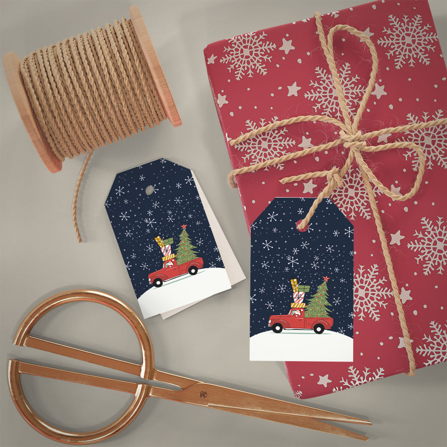 Christmas Gift Tags Print & Cut Template