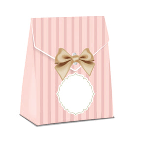 Stripes Pink Favor Bag Print and Cut Template