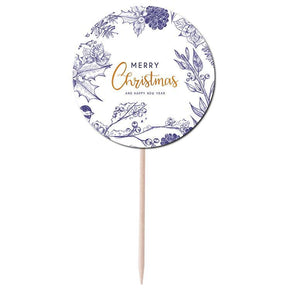Merry Christmas Cupcake Topper Print & Cut Template