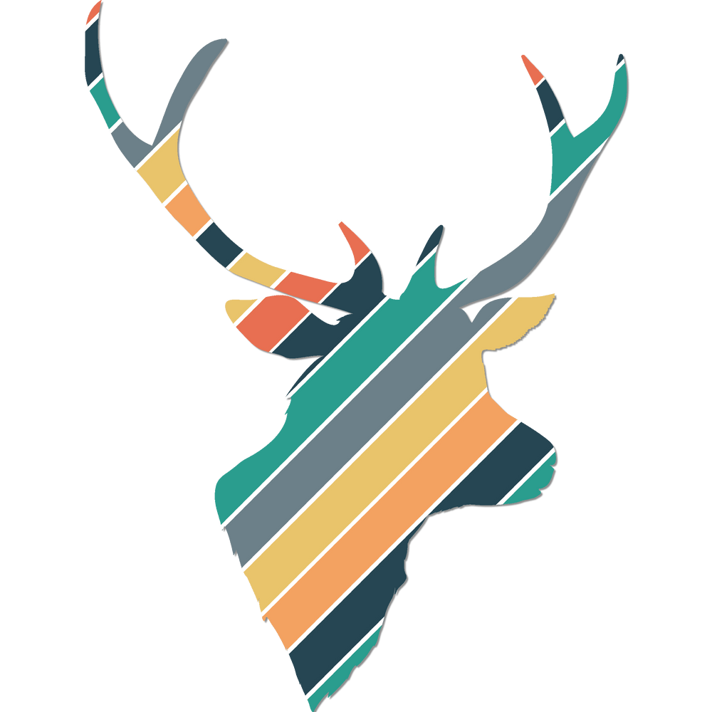 Reindeer Head Cut Templates with Mockups
