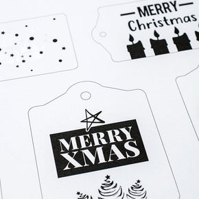 Christmas Black and White Gift Tags - The Knowery