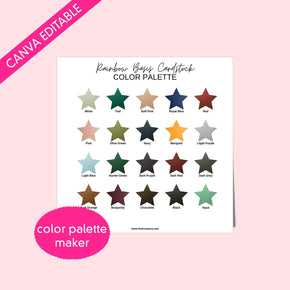 Rainbow Basis Cardstock Swatch Template