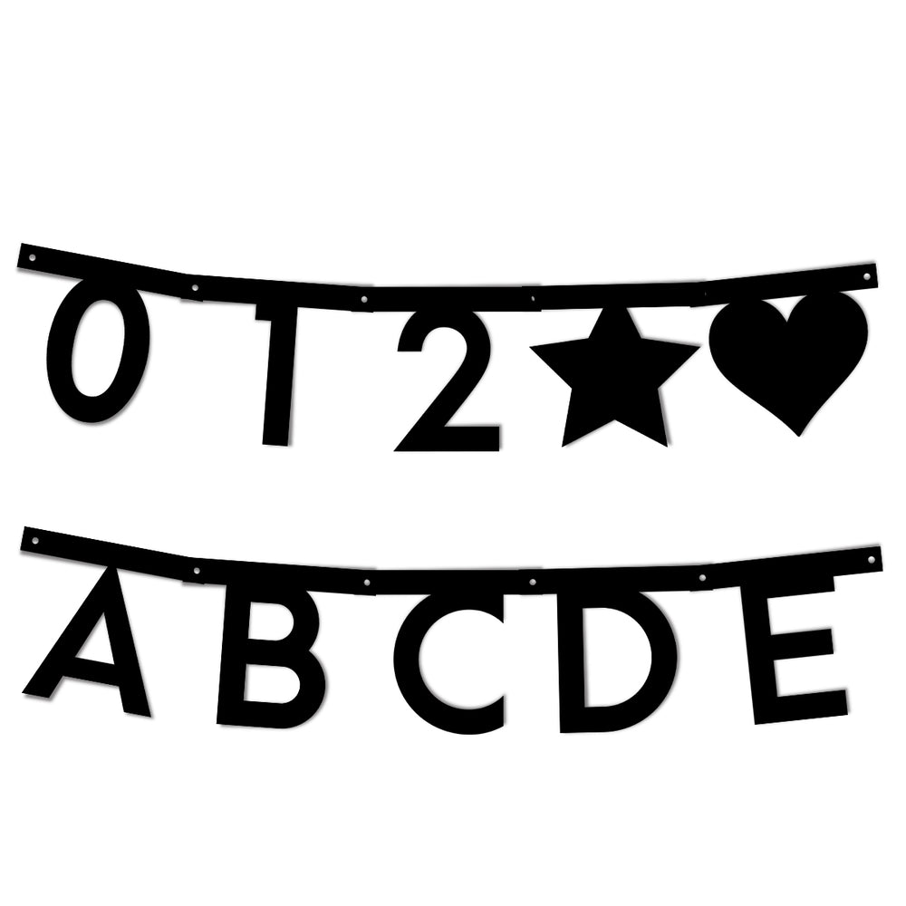 Alphabet Bunting Template