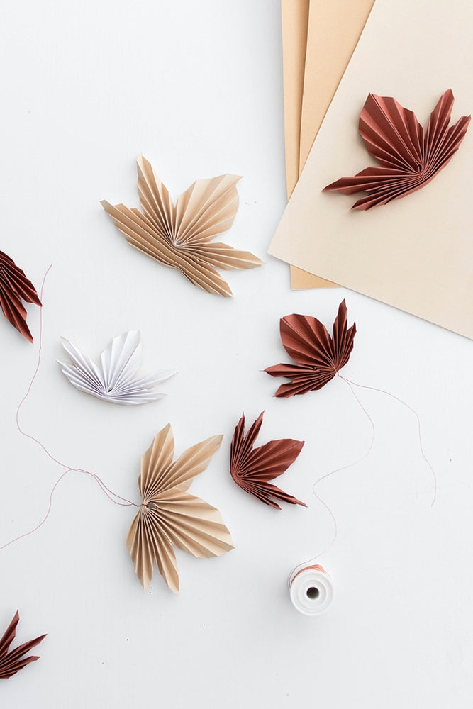 Autumn Garland Paper Leaves Templates