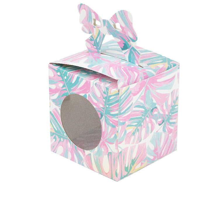 Bow Gift Box with Window Cut Template