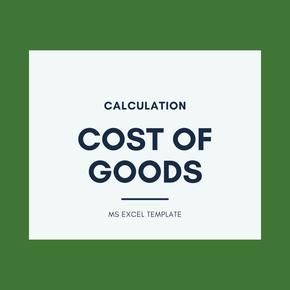 Cost of Goods Calculation - Excel Template