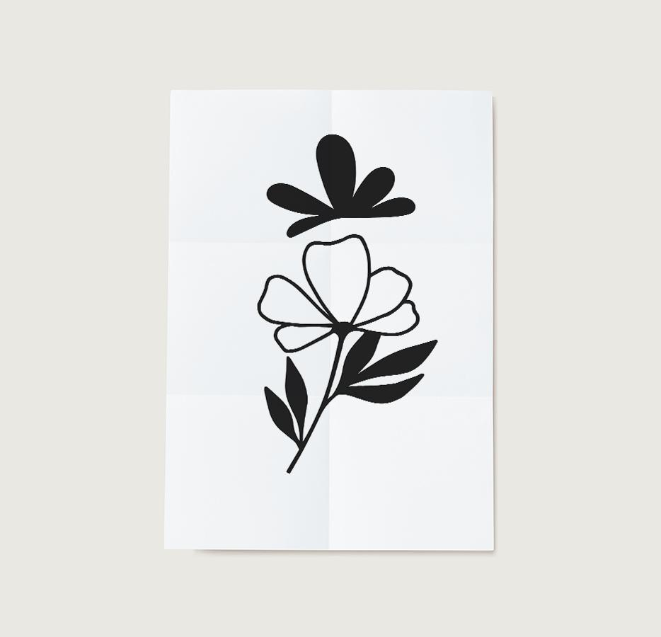 Floral Craft Stencil Template