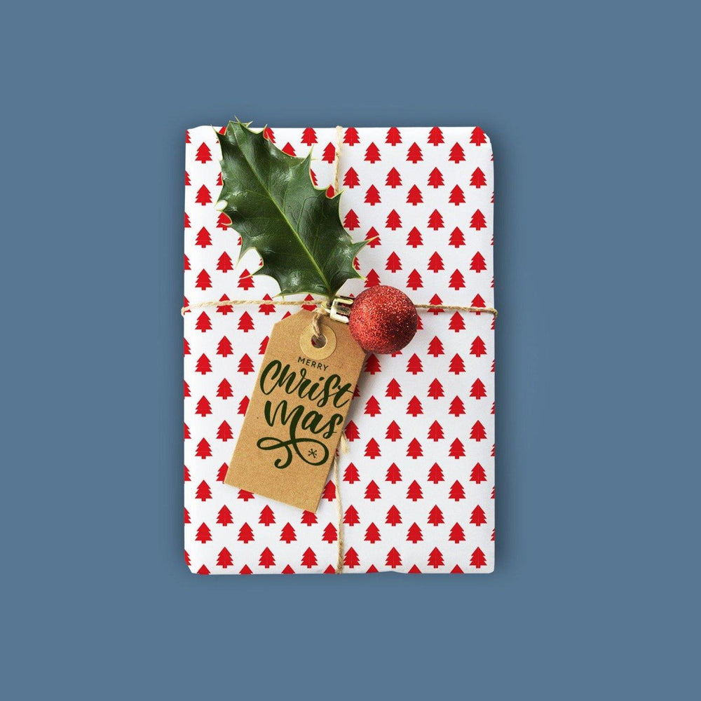 Merry Christmas Gift Tag Print & Cut Template
