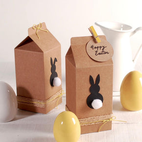 Easter Bunny Treat Box Cut Template