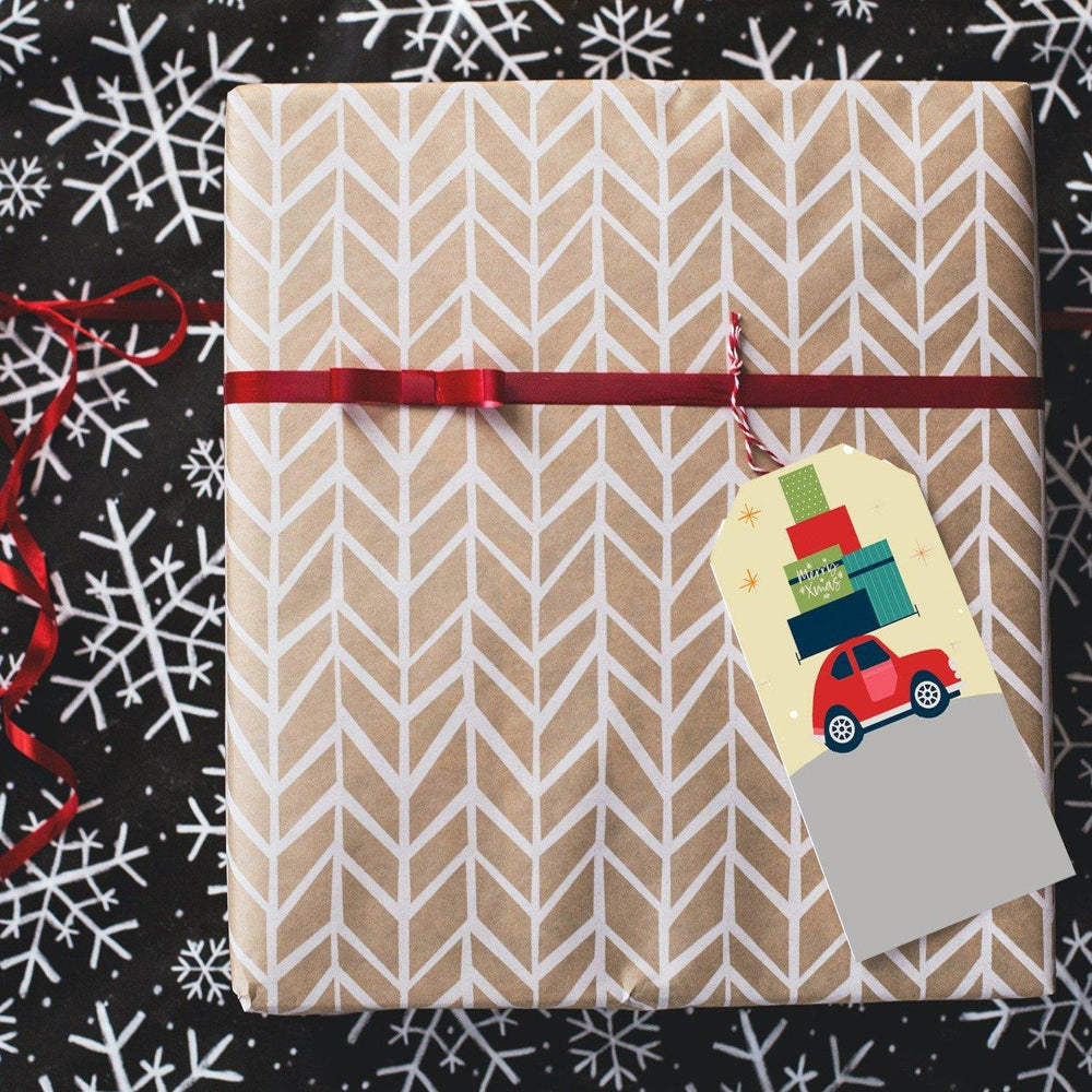 Holiday Gift Tag Print & Cut Template