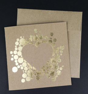 Greeting Card With Hearts Print and Cut Template