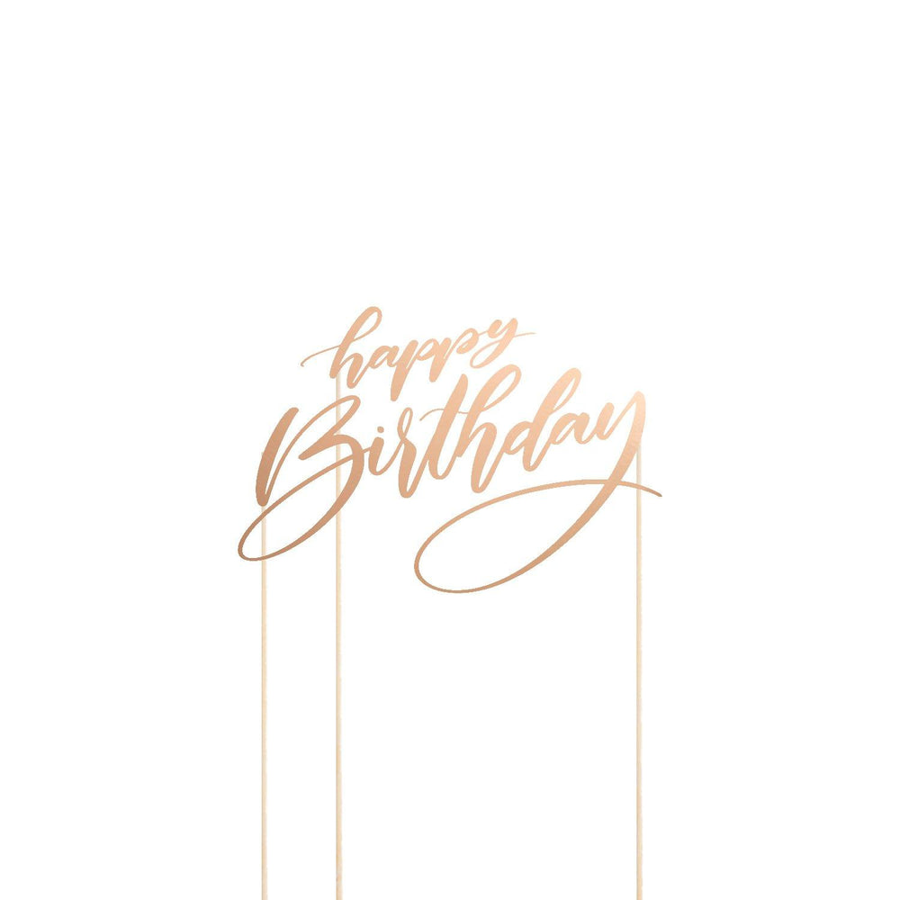 Happy Birthday Cake Topper Cut Template