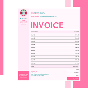 Excel Invoice Template - Modern Design