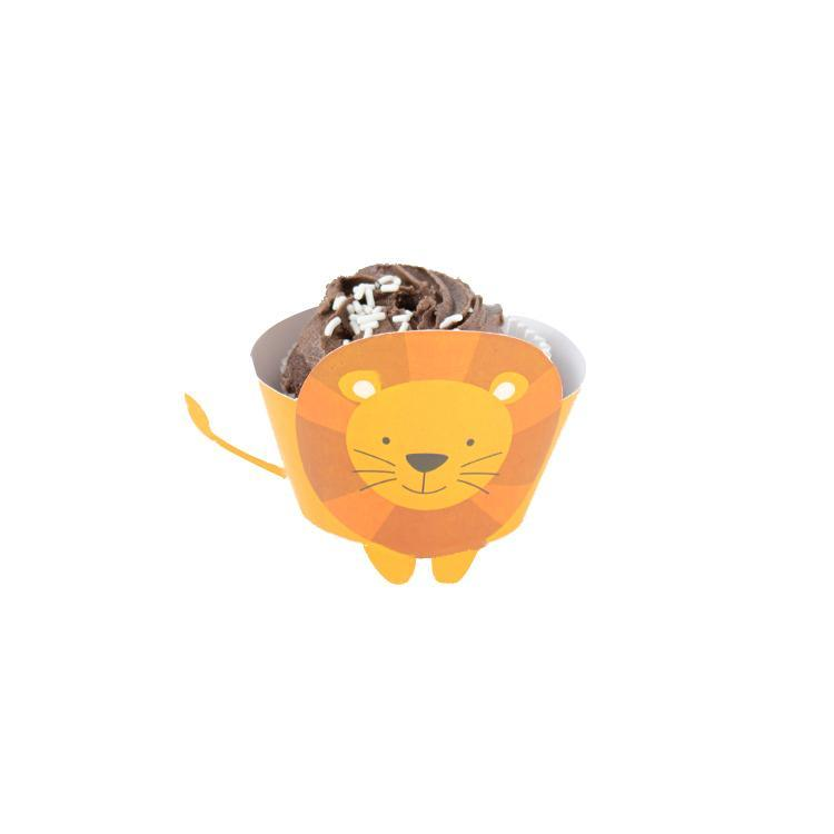 Lion Cupcake Wrap Print and Cut Template