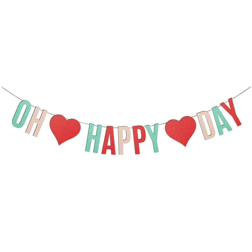 Oh Happy Day Bunting Cut Template