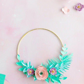 Paper Flower Wreath Template
